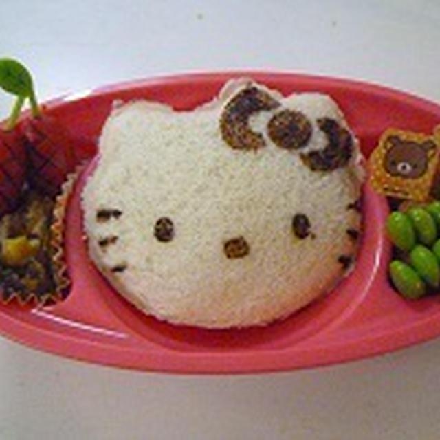 キティちゃんの卵サンド♪♪  シュガーバターサンドの木♪♪  飾り巻き寿司レッスン6月カエル