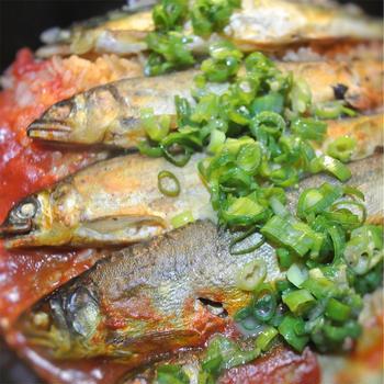 鮎とトマトの炊き込みご飯