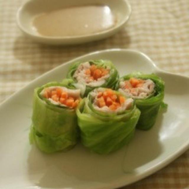 土用のミニなうなぎ♪&キャベツの生春巻き風サラダ