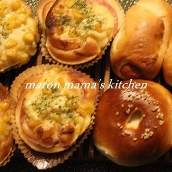 惣菜パンとクリームパンとお芋のパン作ったよ♪