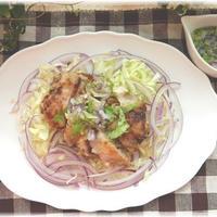 SIORIさんのレシピ☆「カリカリチキンのっけサラダ 香味ドレッシング」