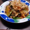 厚揚げと夏野菜のさっぱり炒め