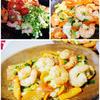 海老と野菜のガーリック炒め