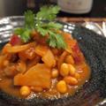 おさつとお豆のほくほくトマトクリーム煮
