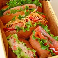 11月1日 日曜日 ロールパンとドッグで、サンドイッチ4種