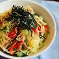 【食べたことある⁈】錦糸瓜(そうめんかぼちゃ)で♪春雨風ヘルシーサラダ