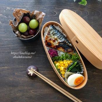 鯖の塩焼き弁当とおにぎり&豚汁弁当【昨日と今日のお弁当】