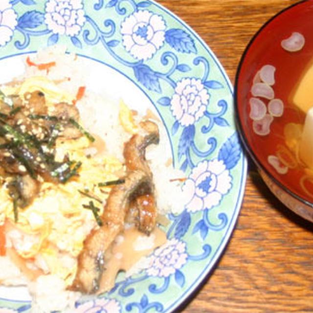 うなぎのちらし寿司と豆腐のお吸い物