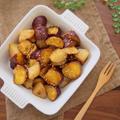 【簡単カフェ飯】10分で副菜1品♪栄養満点♪ほっくほくおさつとジャガイモの甘酢炒め♪