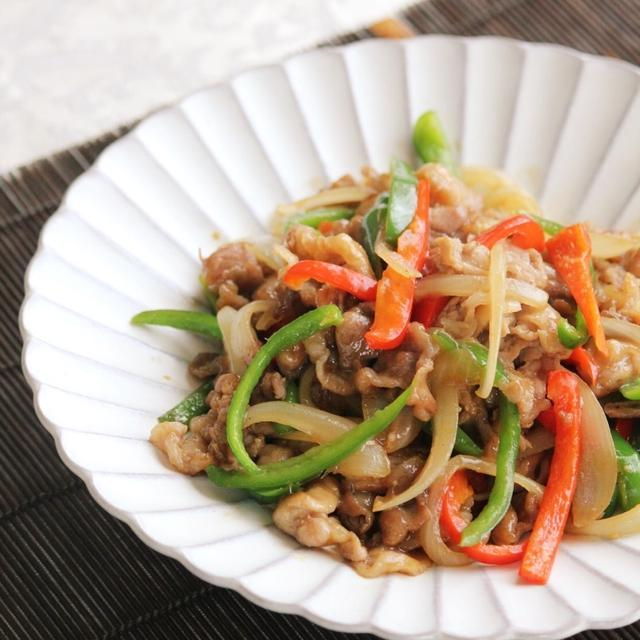 ママ応援簡単レシピ!豚肉と野菜のにんにく醤油炒め