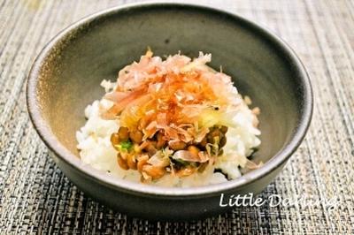【納豆とみょうがのごはん】シンプルな日本の味
