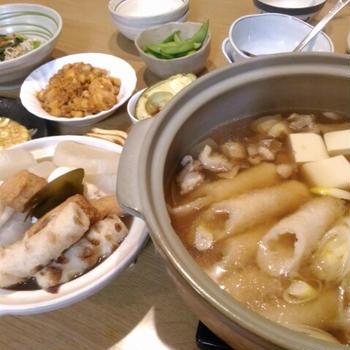 秋田の、美味しいきりたんぽ鍋
