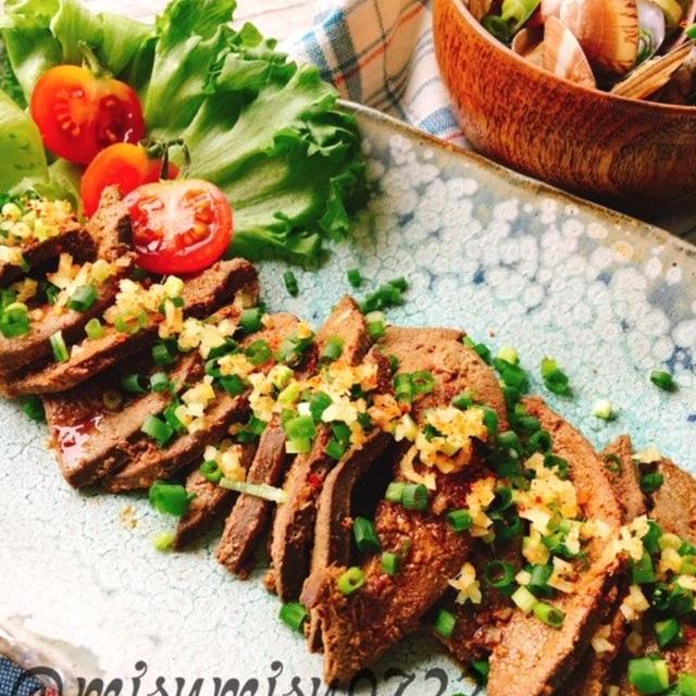 ブランデーでテリツヤ☆豚レバーの生姜醤油煮