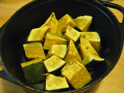 かぼちゃのダッチオーブン焼き