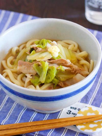 鍋に重ねて放置で5分♪包丁いらず♪『豚バラ白菜のしょうがあんかけうどん』