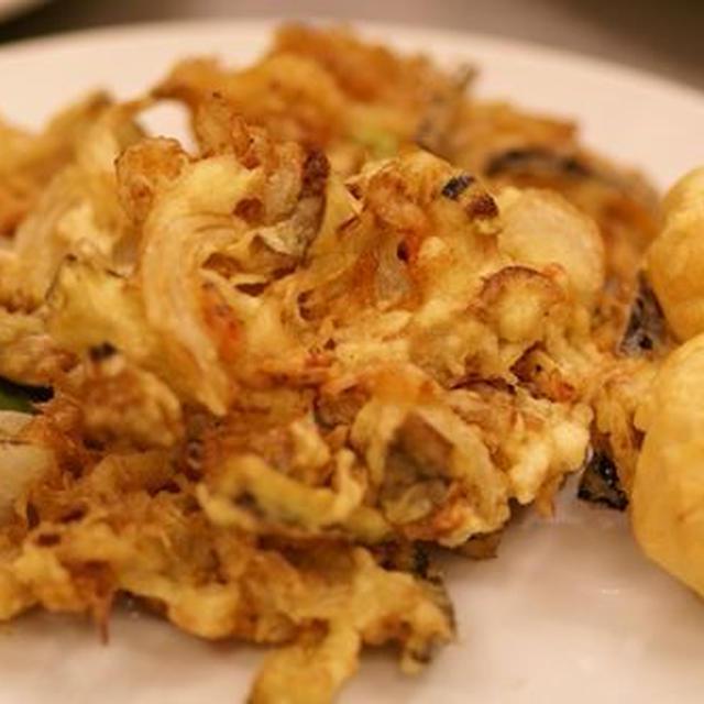 野菜と桜海老のかき揚げ(胡豆昆まかないレシピ)