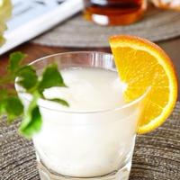 『オレンジとレモングラスのフルブラで♪優しいマッコリカクテル』