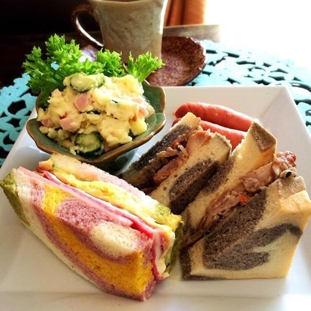 マーブルサンドイッチのランチ