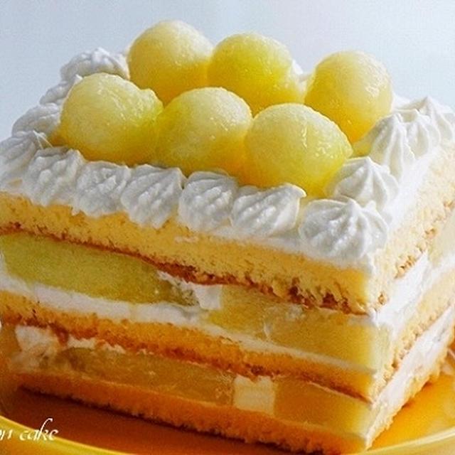 他を寄せ付けない圧勝のメロンケーキ~すぐ作れるお一人様Ver.~