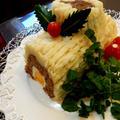 6種類のお野菜入りブッシュドノエル風ミートローフ