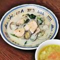 ~パスタ入りで主食に~秋鮭とあさりのクリームチャウダー『フーディストアワード2019スペシャルBOX』冷凍ほうれん草使用で、野菜の高騰知らず