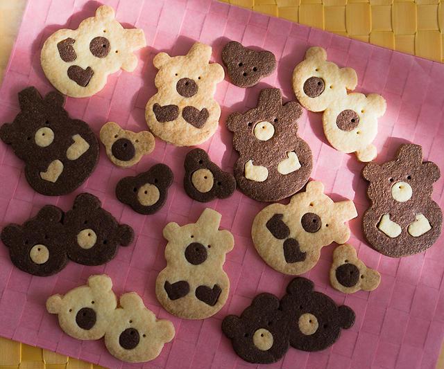 オリジナル白黒くまくまクッキー