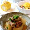 豚肉と大根のニンニク味噌煮込み