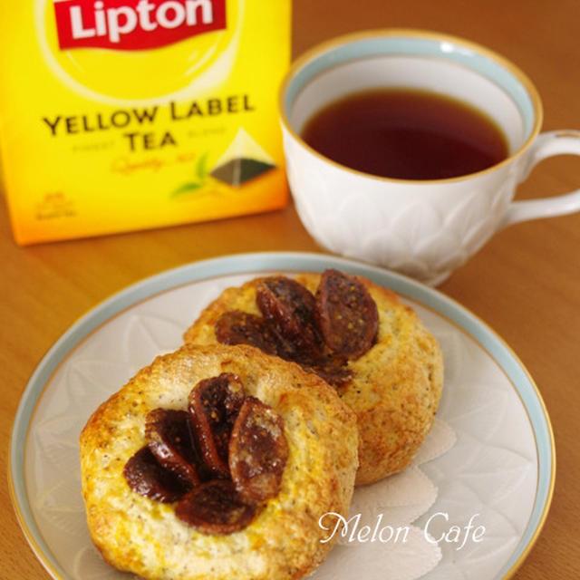 ホットケーキミックスとドライフィグでつくる、簡単さくさくイチジクパン☆紅茶でひらめきのある朝を♪リプトンひらめき朝食レシピ(その2)