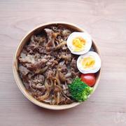 【地味弁】牛丼弁当と、武将様