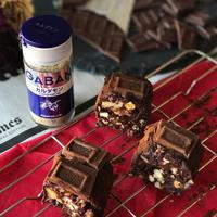 チョコサラミ レンジ&ラップで巻くだけ超簡単 カルダモンで香りワンランクアップ!!