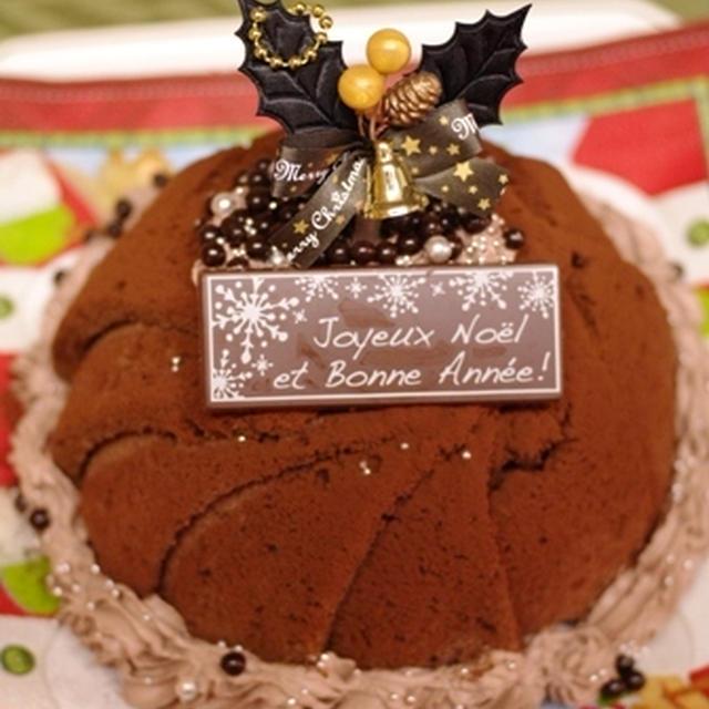 チョコレートチーズドーム☆クリスマスケーキ