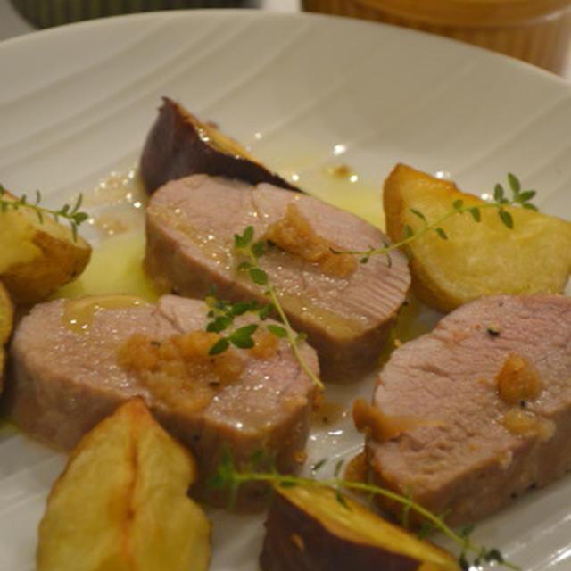 ♪オーブンまかせの休日料理★豚ヒレ肉のガーリックロースト★♪
