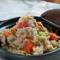 【玄米入り】豚こまとパプリカのみぞれ煮♪ 簡単美味しい!