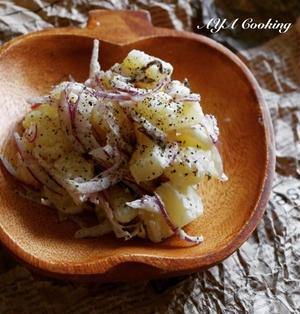 クリームチーズと塩昆布のコクうまポテトサラダ