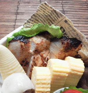 お弁当に簡単グリルポーク(酒粕マヨ味噌ガーリック)