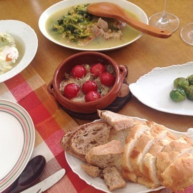 食卓に春を!とびきり美味しい「芽キャベツのパルミジャーノ焼」、「ちりめんじゃことプチトマトのアヒージョ」、意外な美味しさ!「ひよこ豆と海老のアヒージョ」など