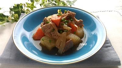 ご飯が進む♪豚肉と大根の豆板醤味噌煮