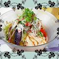 """きょうのお昼も麺です""""ちょい辛バンバンジー麺"""""""