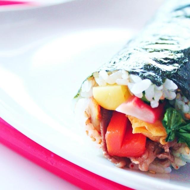 【料理動画】簡単!恵方巻き 韓国風海苔巻きキンパの作り方・レシピ☆  by 和田 良美