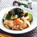 鶏胸肉ときゅうりのレンチンキムチ和え【時短カンタン高たんぱく】 レシピ・作り方