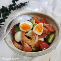 えびとアボカドとトマトのDELI風サラダ♡【#簡単レシピ#サラダ】