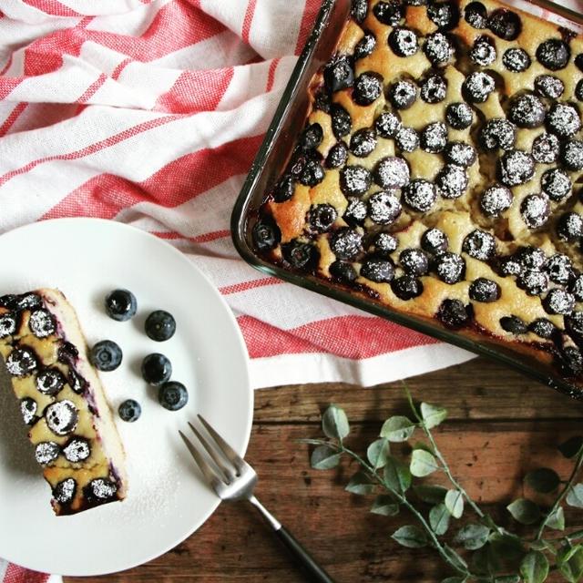 【簡単!】おからタップリ♪ブルーベリーとバナナの焼きっぱなしケーキ