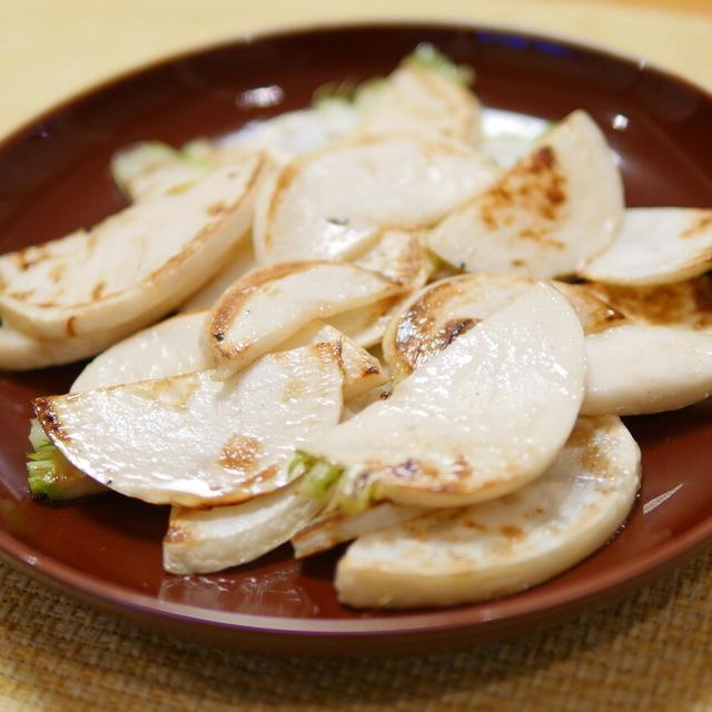 【採れたて野菜】北海道の採れたてカブでソテー。今まで食べたカブで一番美味しい