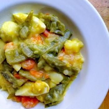 スペイン定番の温野菜☆メネストラ