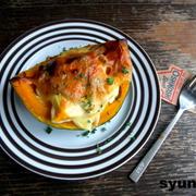 【簡単!!カフェごはん】焼きかぼちゃチーズサラダ