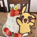 ピカチュウのデコレーションケーキ
