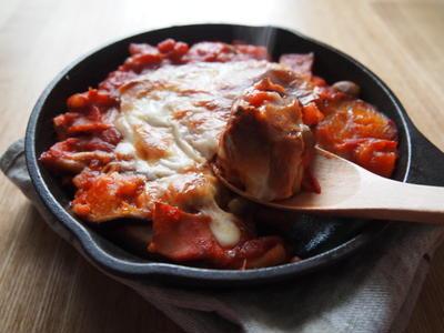 \フライパン料理/茄子とベーコンののっけパン【調理時間:15分】