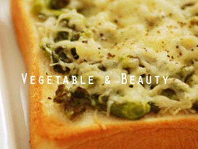 >【痩】 菜の花としらすのチーズトースト by SHIHOさん