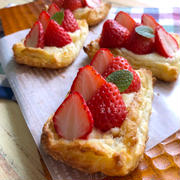 旬が終わる前に作ってみて!冷凍パイシートで簡単「いちごパイ」