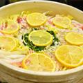 【塩こうじレモン鍋 白菜と豚肉のミルフィーユ鍋仕立て】